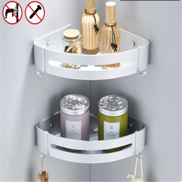 Heavy Duty Aluminum  Corner Storage Shelves with Hooks