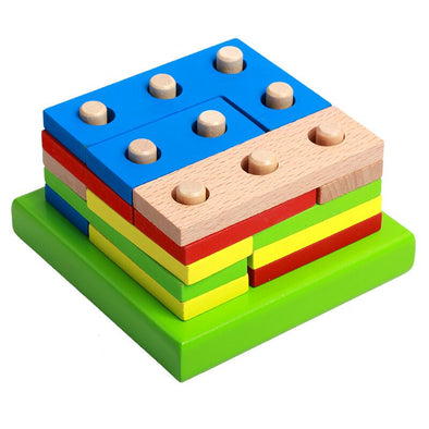 Wooden Geometric Sorting Board Educational Toy