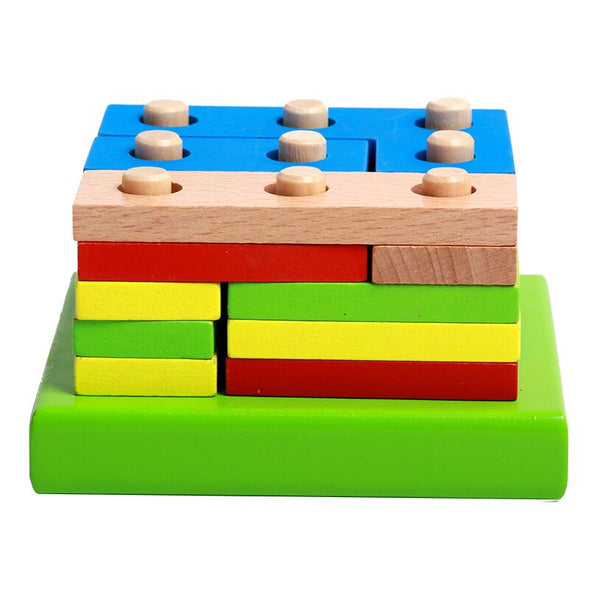Wooden Puzzle Toy Geometric Sorting Board Kids Educational Toy
