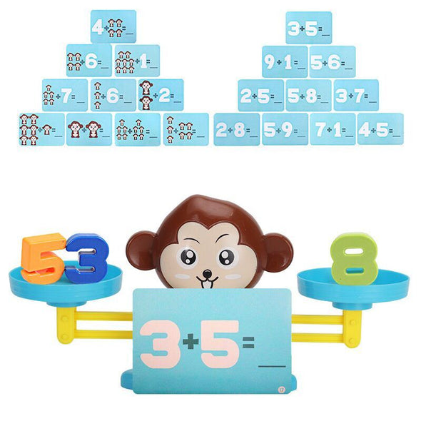 Monkey Cat Balancing Scale Number Balance Game Kids Educational Toy