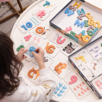 Alphabet and Number Wooden Jigsaw Puzzle