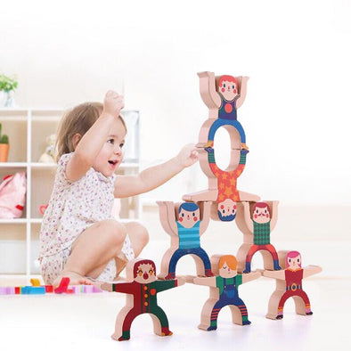 Wooden Stacking Hercules Balance Building Blocks Toys