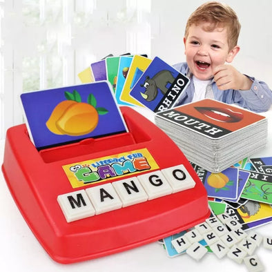 Matching Letter Game, Alphabet Reading & Spelling, Words & Objects, Number & Color Recognition Toys
