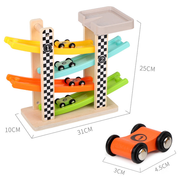 Wooden Race Track Car Ramp Racer