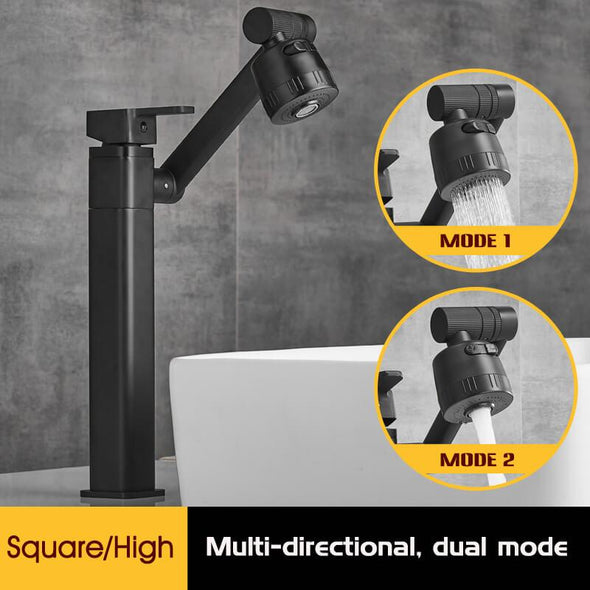 Multi-directional Three-dimensional Rotating Faucet