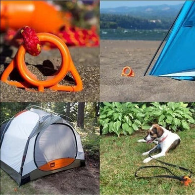 Orange Screw Ultimate Ground Anchors 4 PCS