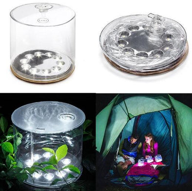 Inflatable Solar Lantern, Inflatable Solar Light for Camping, Patio, Hiking, Fishing, Picnic