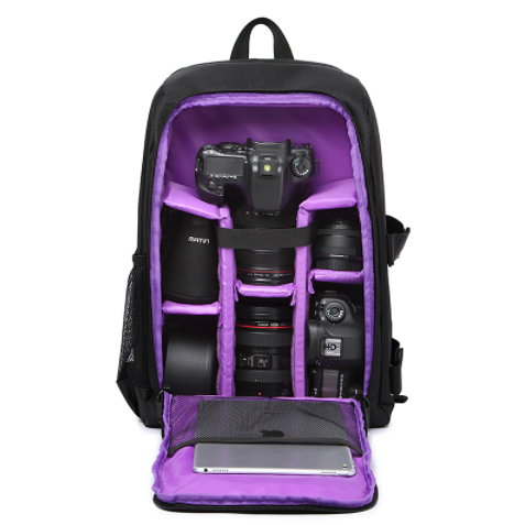 DSLR Camera Backpack Bag  for Camera, Lenses,  and Photography Accessories