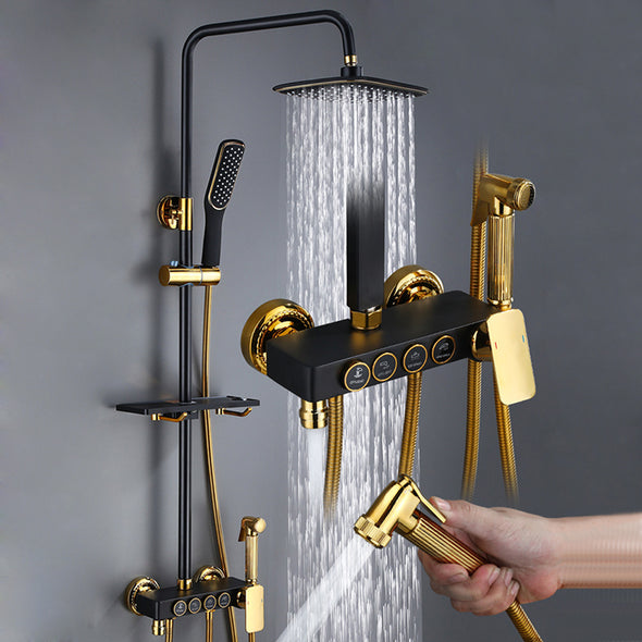 Luxury Bronze Brass 4 Gear Mixer Rainfall Shower System