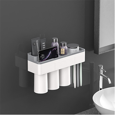 Magnetic Adsorption Toothbrush Holder,