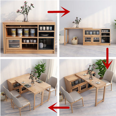 2020 New Design Multifunction Dining Table with  Cabinet