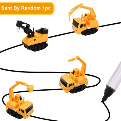 Inductive Truck Toy Follow Drawn Black Line For Kids