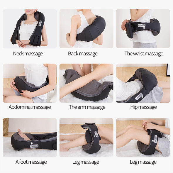Cordless  Shiatsu Deep Kneading Massage Pillow with Heat