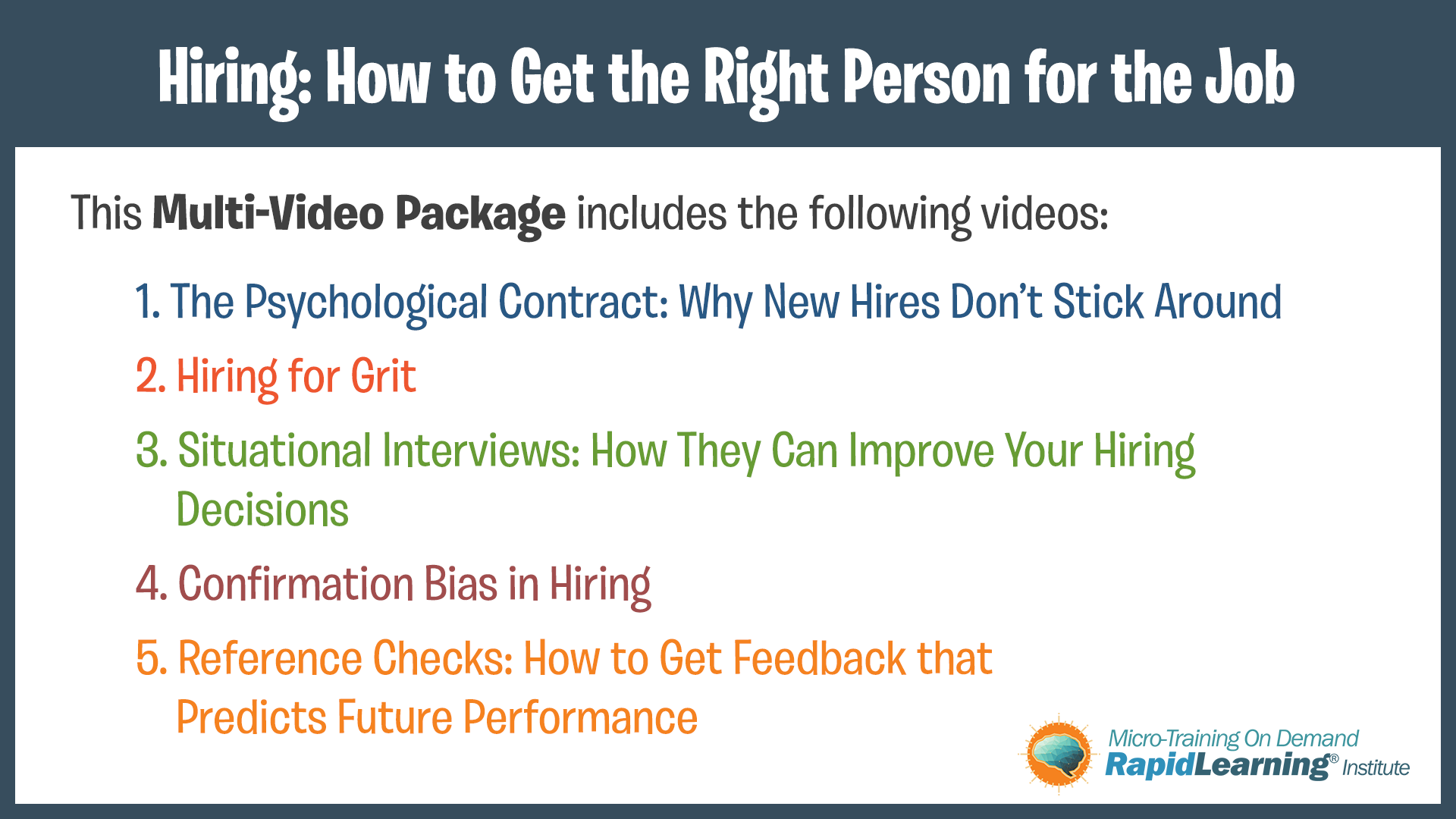 Hiring: How to Get the Right Person for the Job – Micro
