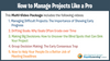 How to Manage Projects Like a Pro