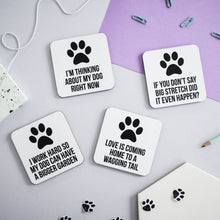 Load image into Gallery viewer, Dog coaster set