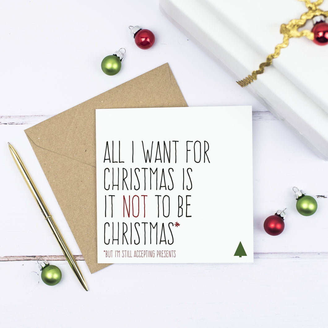 'Not to be Christmas' Anti Christmas card