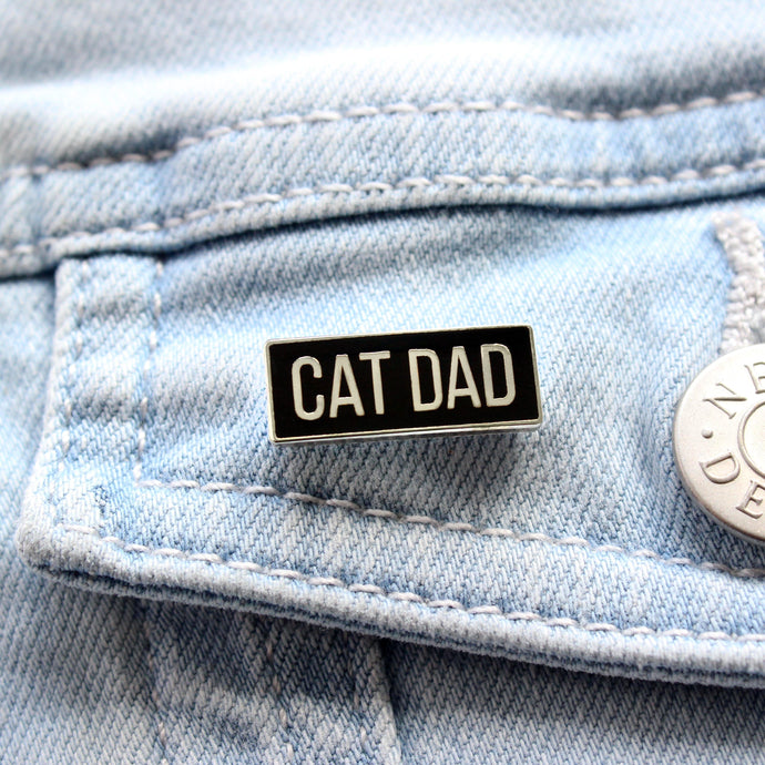 Cat dad enamel pin