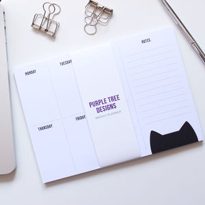 Cat weekly planner notepad