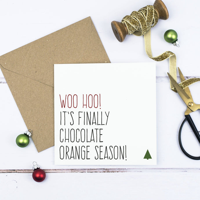 'Chocolate orange season' Christmas card