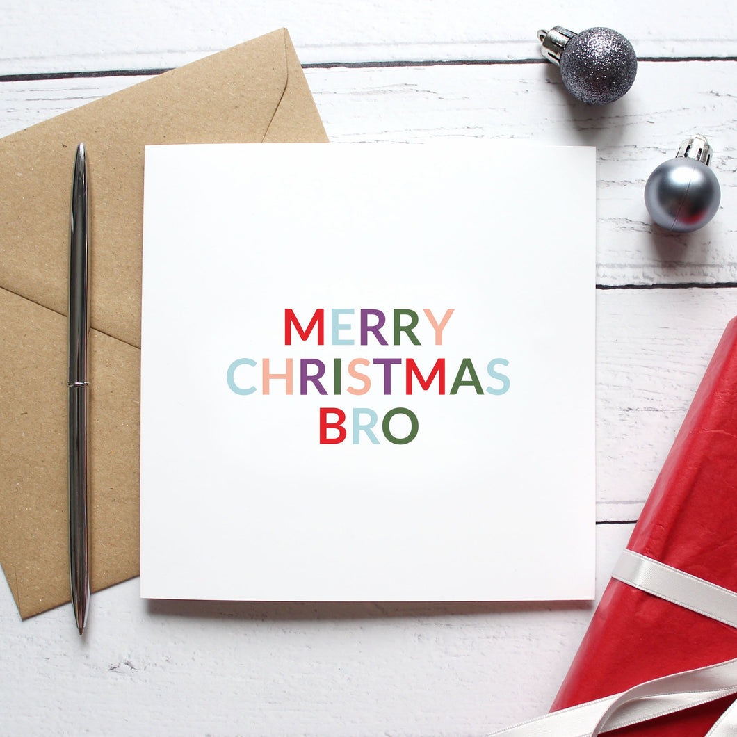 'Merry Christmas bro' Christmas card