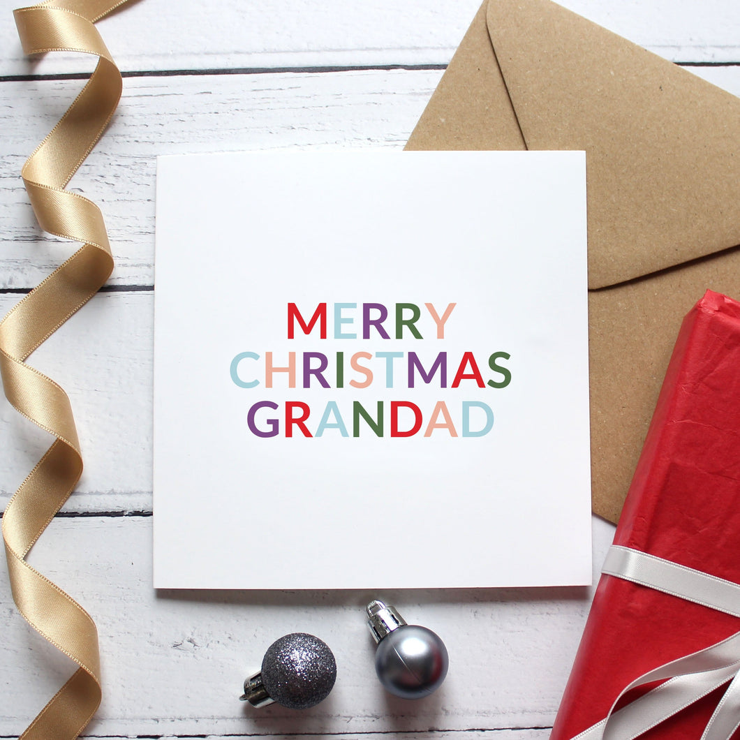'Merry Christmas grandad / grandpa' Christmas card