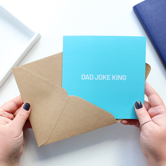 Dad joke king card