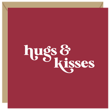Load image into Gallery viewer, Hugs and kisses card