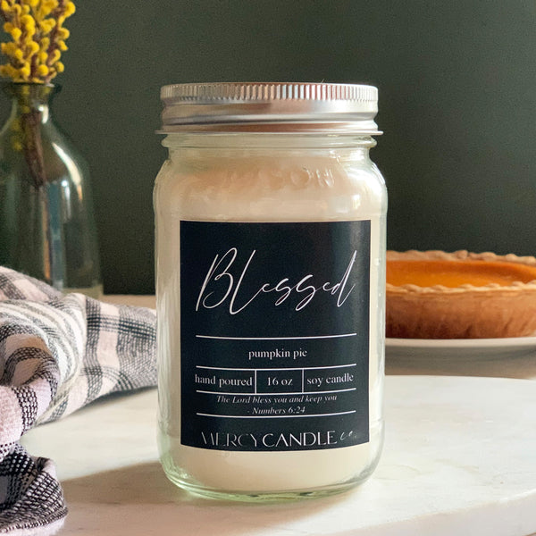 BLESSED - 16oz Mason Jar