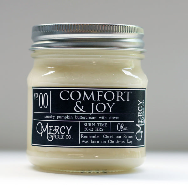 Comfort & Joy - 08oz Mason Jar