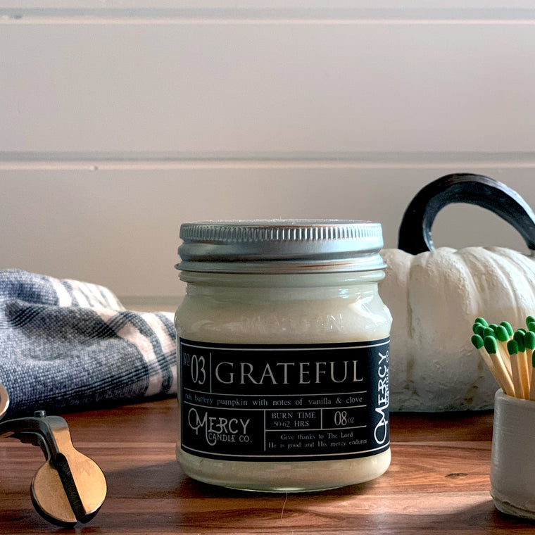 GRATEFUL - 08oz Mason Jar
