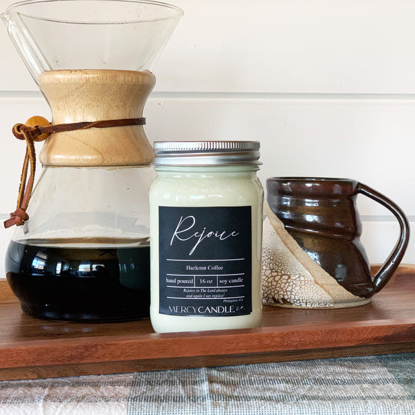 Rejoice - 16oz Mason Jar
