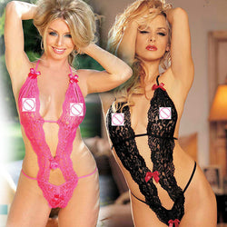 Lingerie Underwear Transparent Conjoined Dress Suit in black,pink, Burgundy and white very hot. - PIBBO