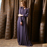 Maxi size long dress Spring Summer  Long Sleeve Quite Elegant (The belt is  not included). - PIBBO