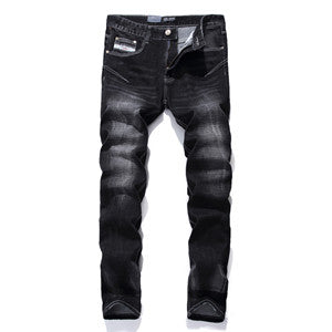 Logo Brand Dsel Mens Jeans High Quality Stripe Slim Black Jeans For Men Fashion Designer Denim Skinny Jeans Men 702 - PIBBO