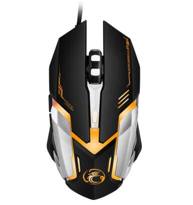 V6 New Arrival 5000 DPI 6 Button LED Optical USB Wired Gaming Mouse Mice computer mouse For Pro Gamer wholesale - PIBBO