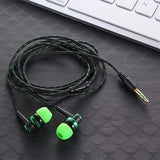 MP3 MP4 Wiring Subwoofer Headset Ear Braided Rope Wire Cloth Rope Earplug Noise Isolating Earphone Built-in Mic Handfree - PIBBO
