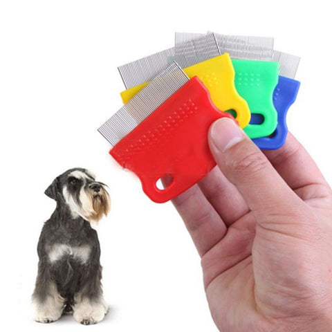 Pet Dog Cat Clean Comb Grooming Tool Steel Small Fine Toothed Comb Catching Lice - PIBBO