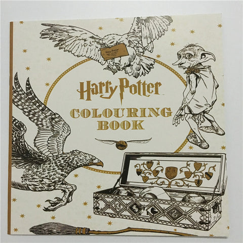 25X25 CM Harry Potter Coloring Book :Books for Children Adult Secret Garden Series Kill Time Painting Drawing Books 24 Pages - PIBBO