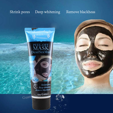 Blackhead Remover Deep Cleansing Acne Remover Black Mud Face Mask, 120ml Facial Skin Care (Peel Off Easily)