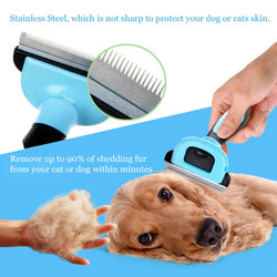 Great Quality Dog Brush Comb Pet Grooming Tool, for Small Medium Large Dogs + Cats with Short to Long Hair Reduces Shedding - PIBBO