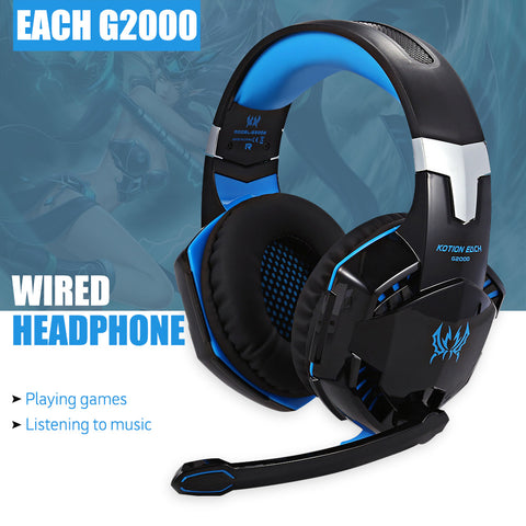 Stereo Sound 2.2m Wired Gaming Headset,Headphone Noise Reduction with Hidden Microphone for PC Gaming - PIBBO