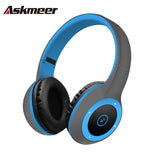 Askmeer T8 Wireless Bluetooth Headphone Foldable Stereo Earphone Headset Handsfree with Microphone Support TF Card Music Play - PIBBO