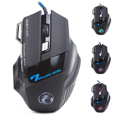 Professional Wired Gaming Mouse X7 Button 5500 DPI LED Optical USB - PIBBO
