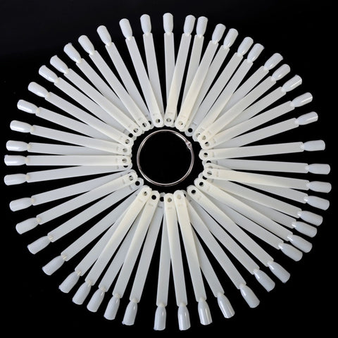 50 Pieces Nail Art Fan Wheel Polish Practice Tip Sticks Design  Set - PIBBO