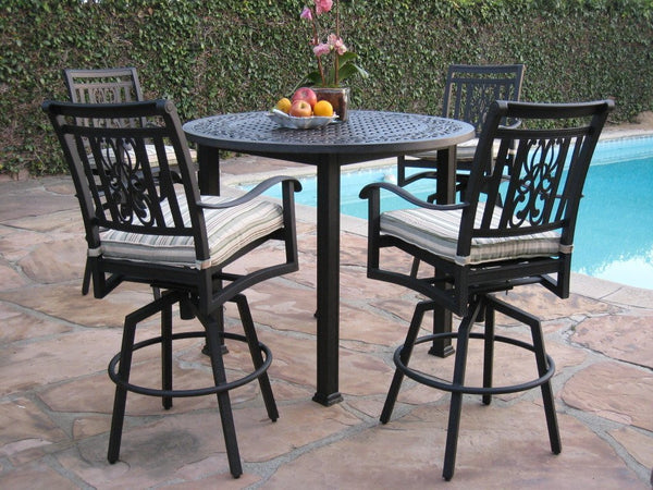 Heaven Cast Aluminum 5 Piece Bar Table Set (HV-21) & Heaven Cast Aluminum 5 Piece Bar Table Set (HV-21) u2013 Grand Patio ...
