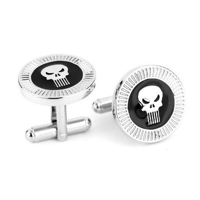 Abotoaduras Punisher - Loja Geek Blackat Store