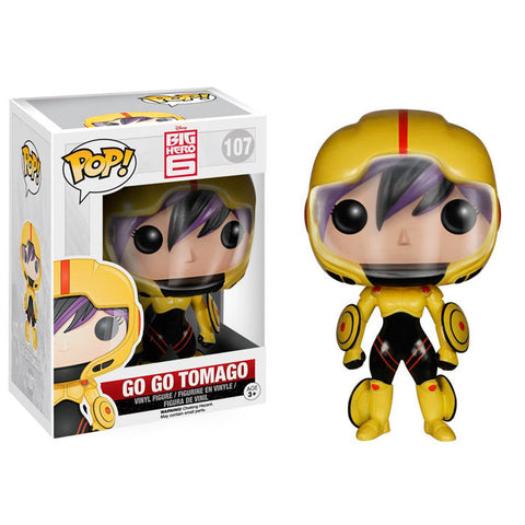 Boneco Go Go Tomago Big Hero Funko Pop - Disney