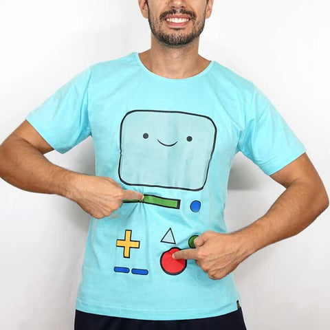 Camiseta Masculina Bmo - Adventure Time