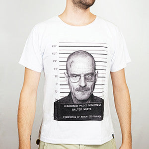 Camiseta Masculina Walter White Arrested - Breaking Bad - Loja Geek Blackat Store
